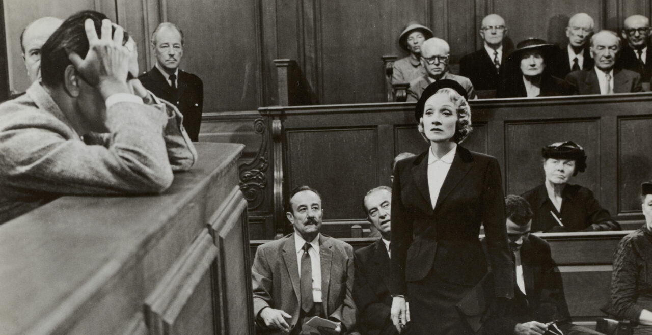 still from Witness for the Prosecution (Billy Wilder, US 1957)