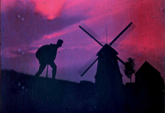 A scene that has been coloured by means of both tinting and toning.