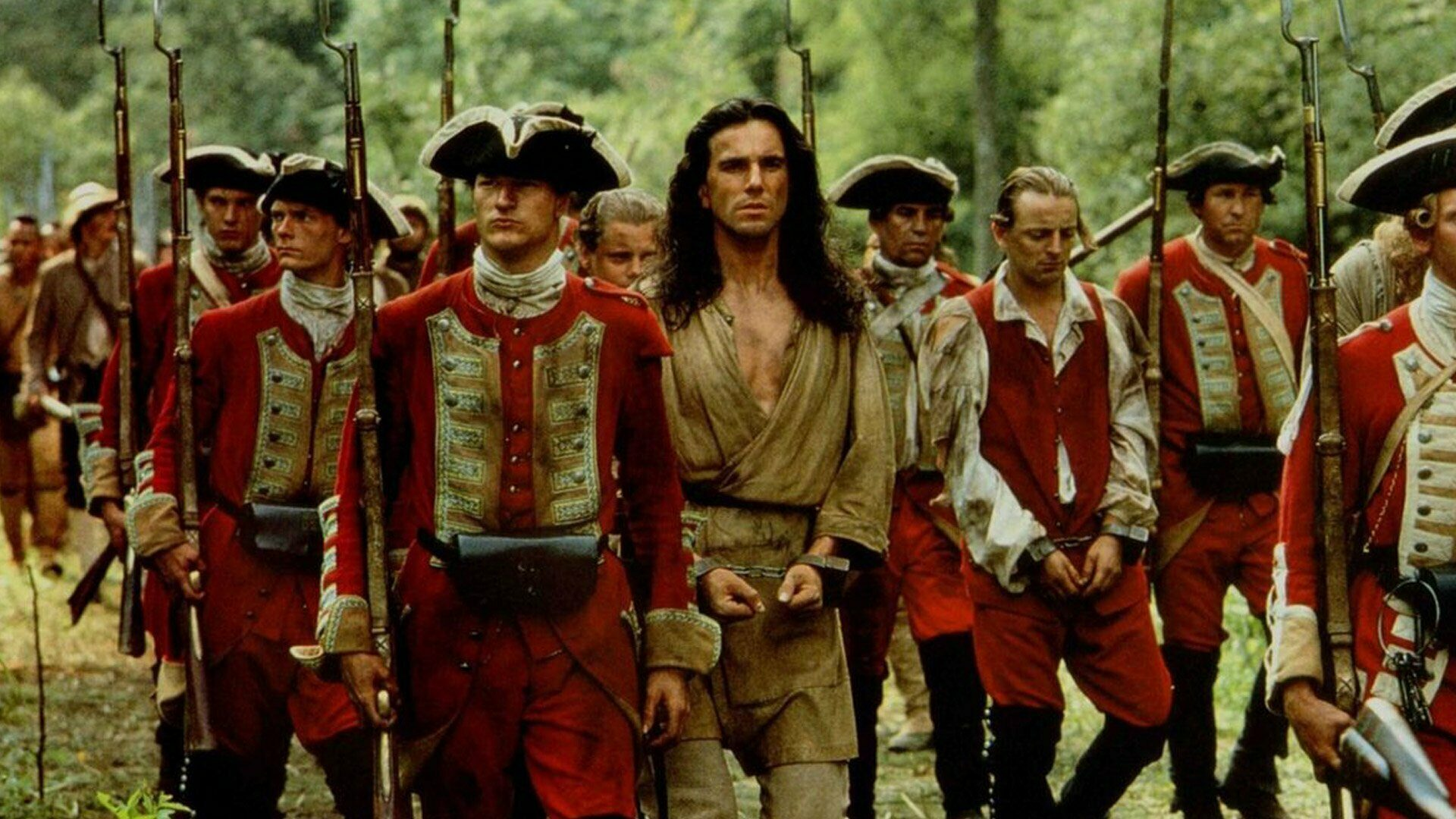 still from The Last of the Mohicans (Michael Mann, US 1992)